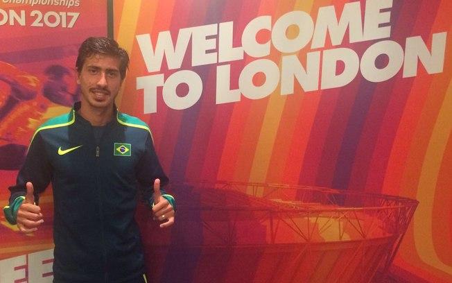 Caio Bonfim conquistou a única medalha brasileira no Mundial de Atletismo de Londres: o bronze na marcha atlética de 20 km (Foto: Anderson Rosa/CBAt)
